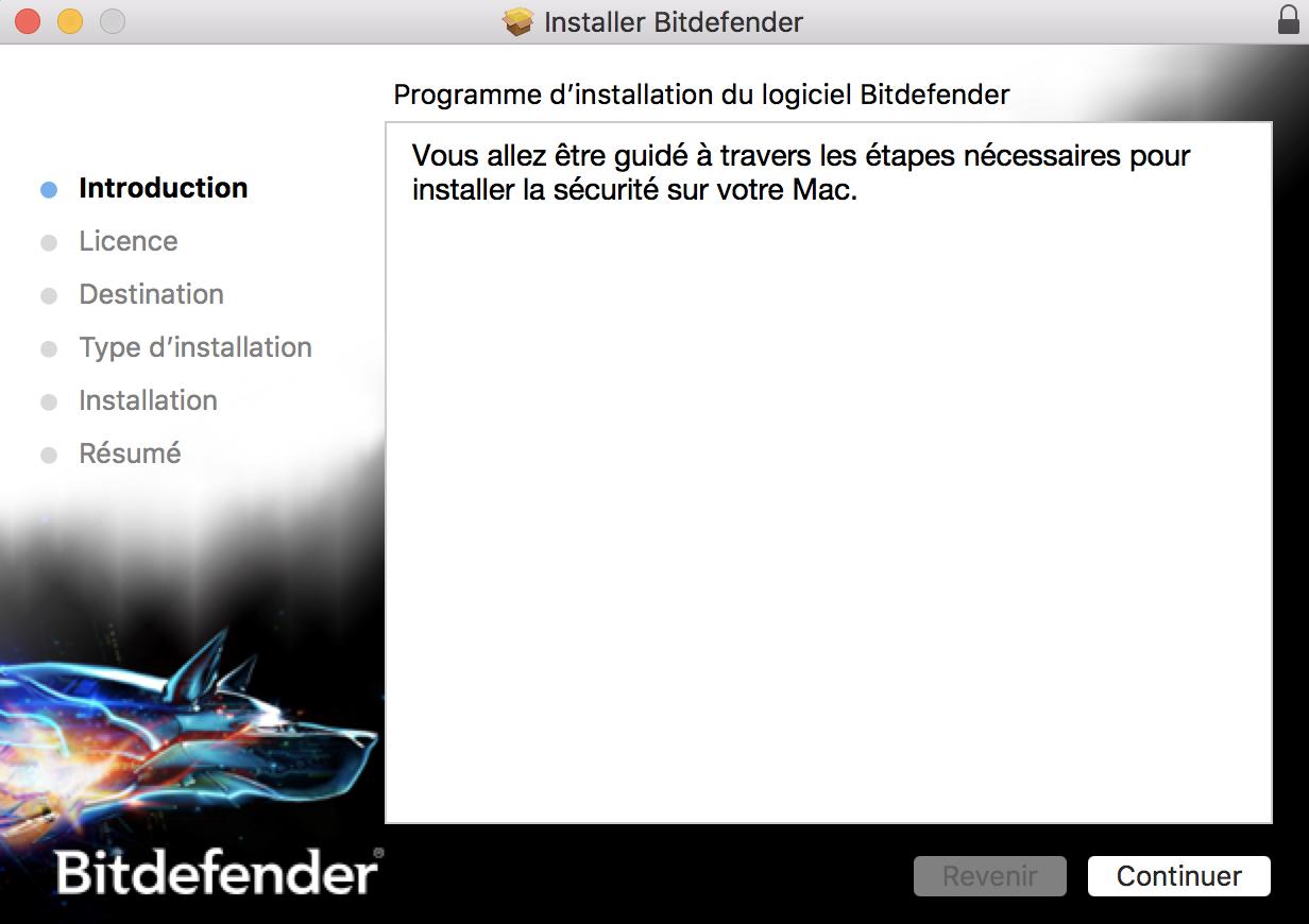 comment installer bitdefender antivirus for mac sur macos. Black Bedroom Furniture Sets. Home Design Ideas