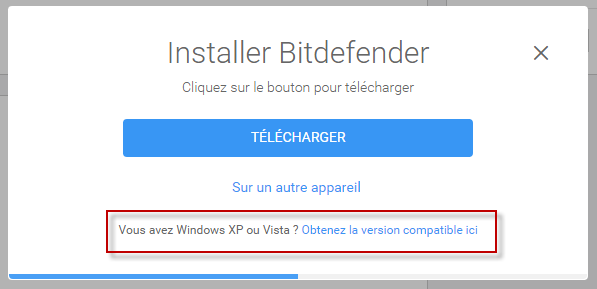 Comment installer Bitdefender sur Windows XP et Vista