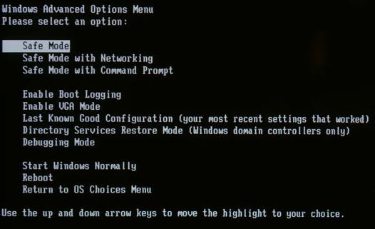 Cliquez sur Entrée et patientez pendant que Windows se charge en Mode sans  échec.