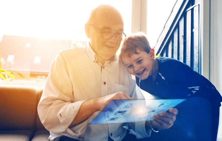 famille tablette connectée